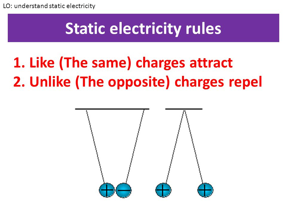 Static electricity rules