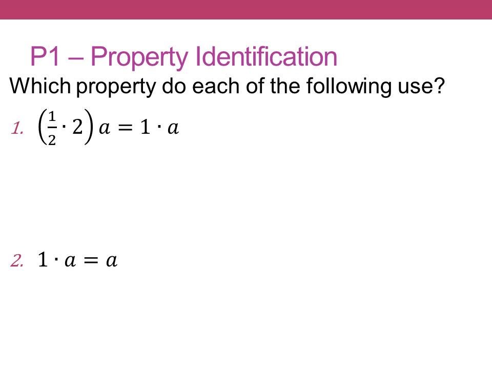 P1 – Property Identification