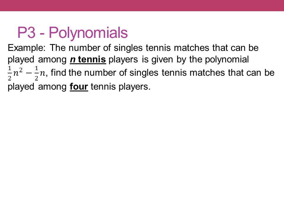P3 - Polynomials