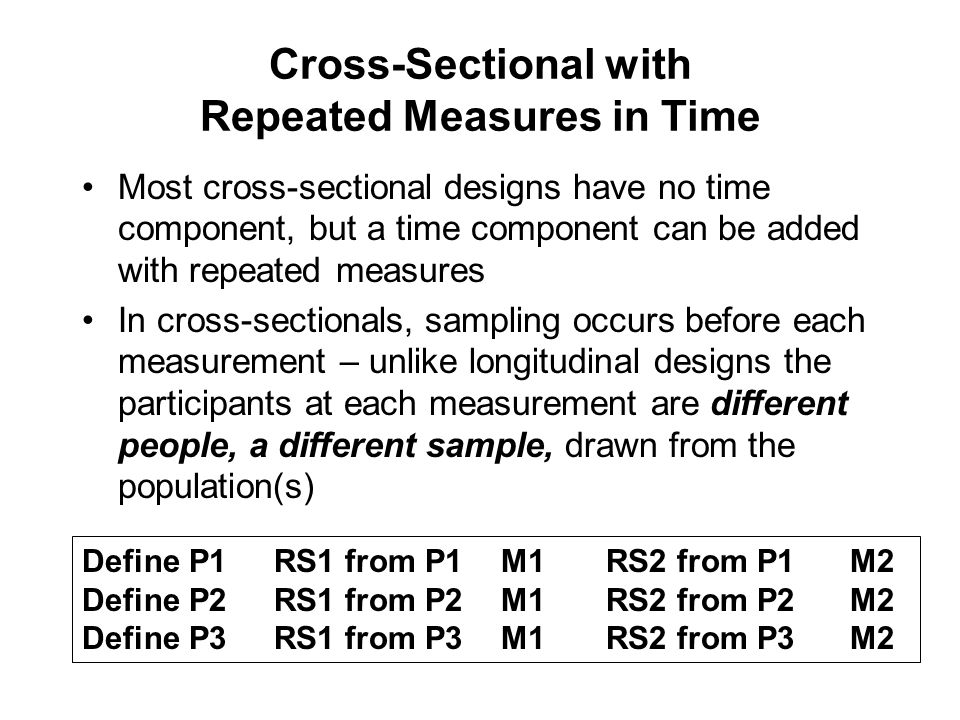 Cross-Sectional with Repeated Measures in Time