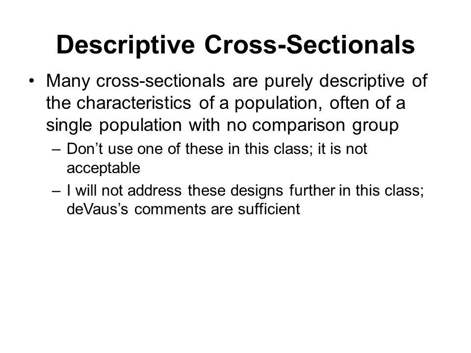 Descriptive Cross-Sectionals