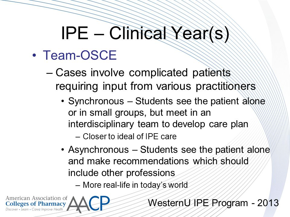 IPE – Clinical Year(s) Team-OSCE