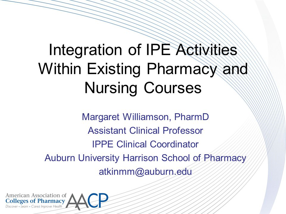 Integration of IPE Activities Within Existing Pharmacy and Nursing Courses