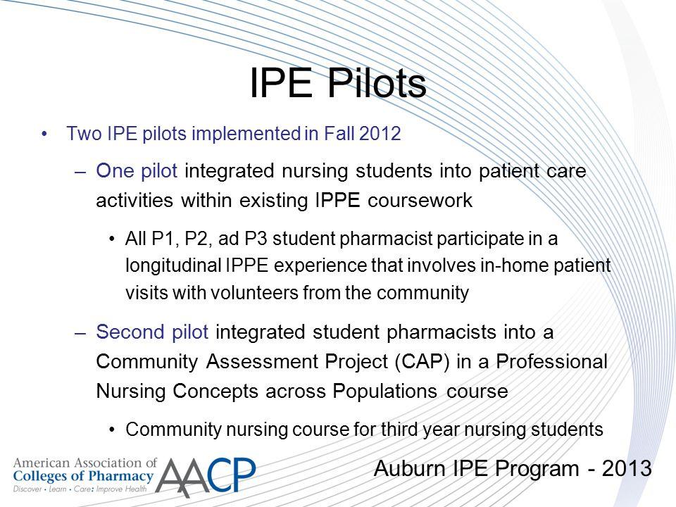 IPE Pilots Auburn IPE Program - 2013
