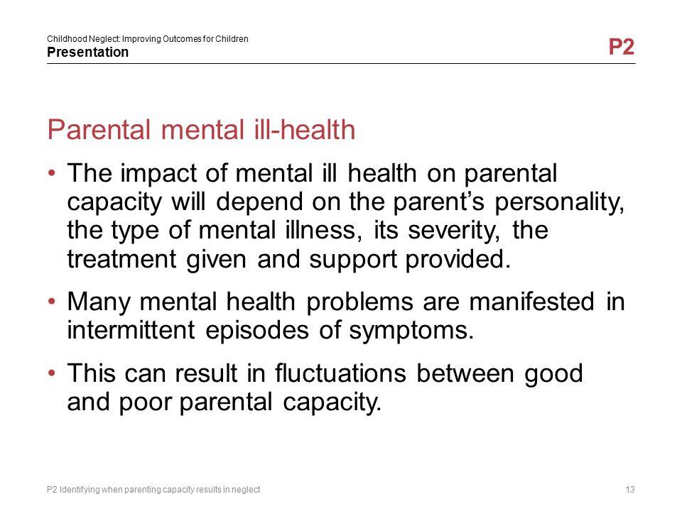 Parental mental ill-health