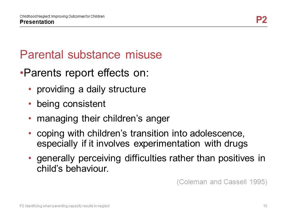 Parental substance misuse