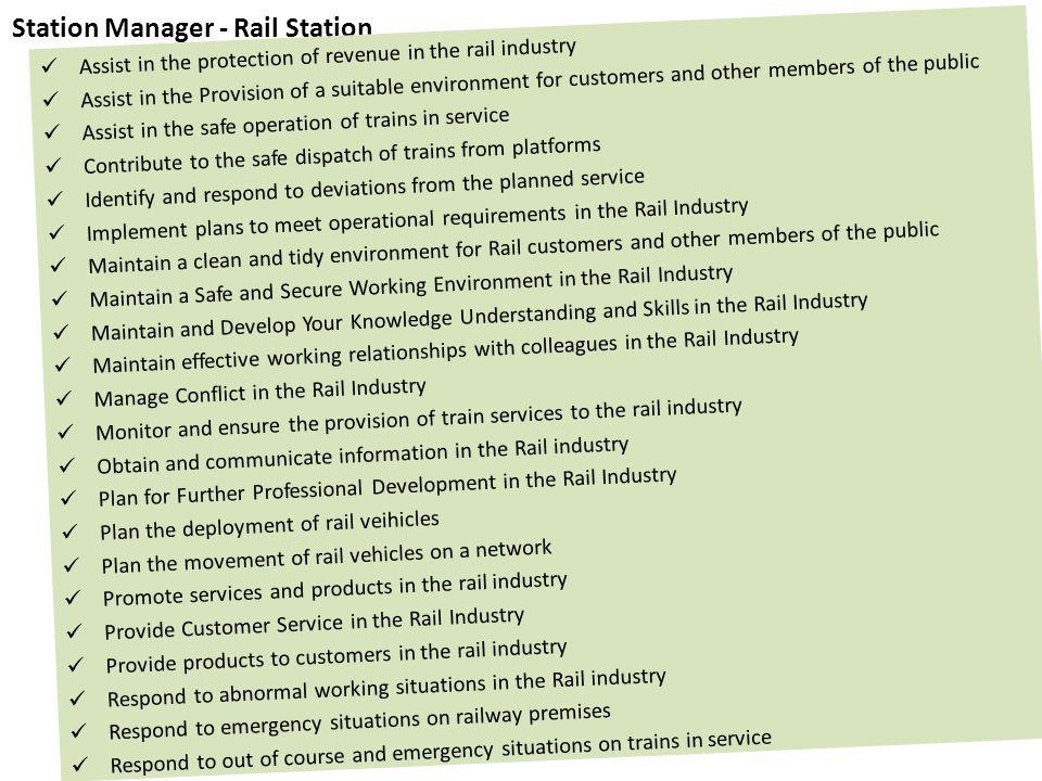 Station Manager - Rail Station