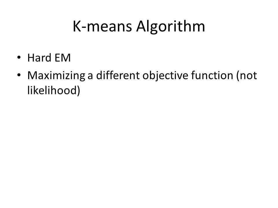K-means Algorithm Hard EM