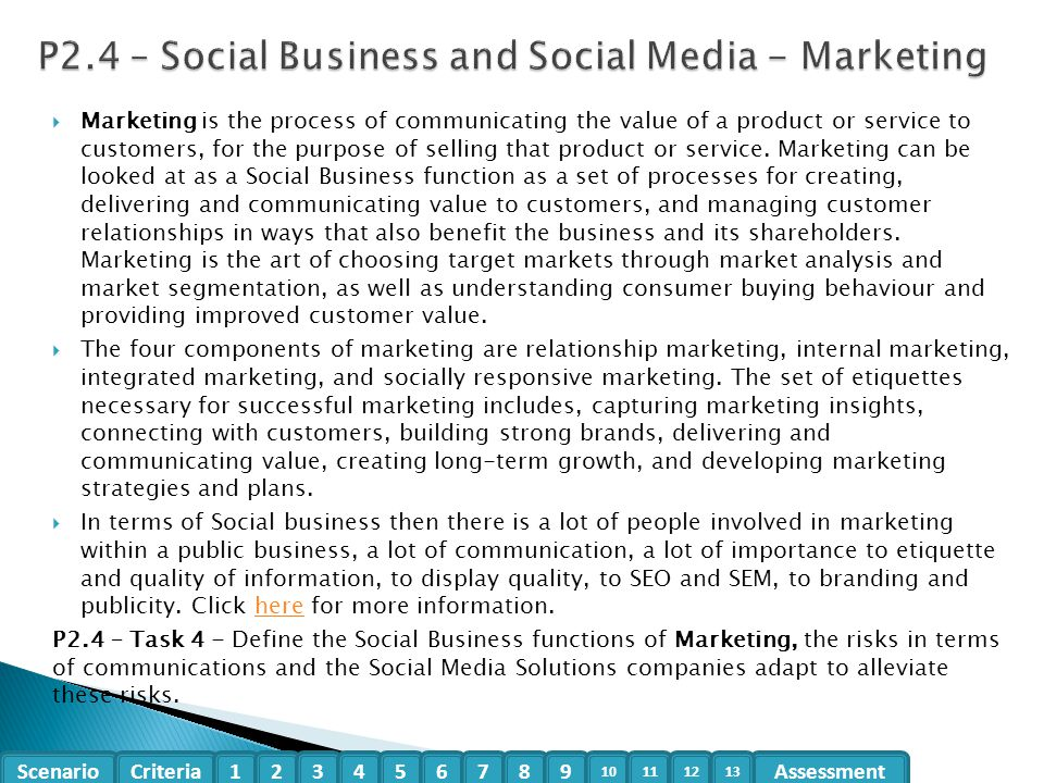 P2.4 – Social Business and Social Media - Marketing