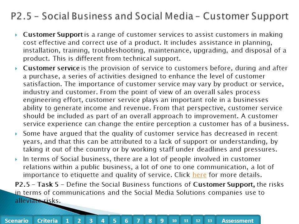 P2.5 – Social Business and Social Media – Customer Support
