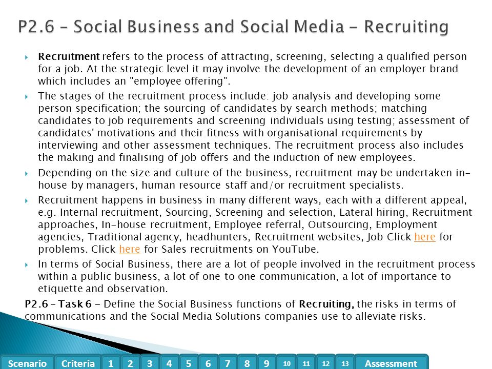 P2.6 – Social Business and Social Media - Recruiting