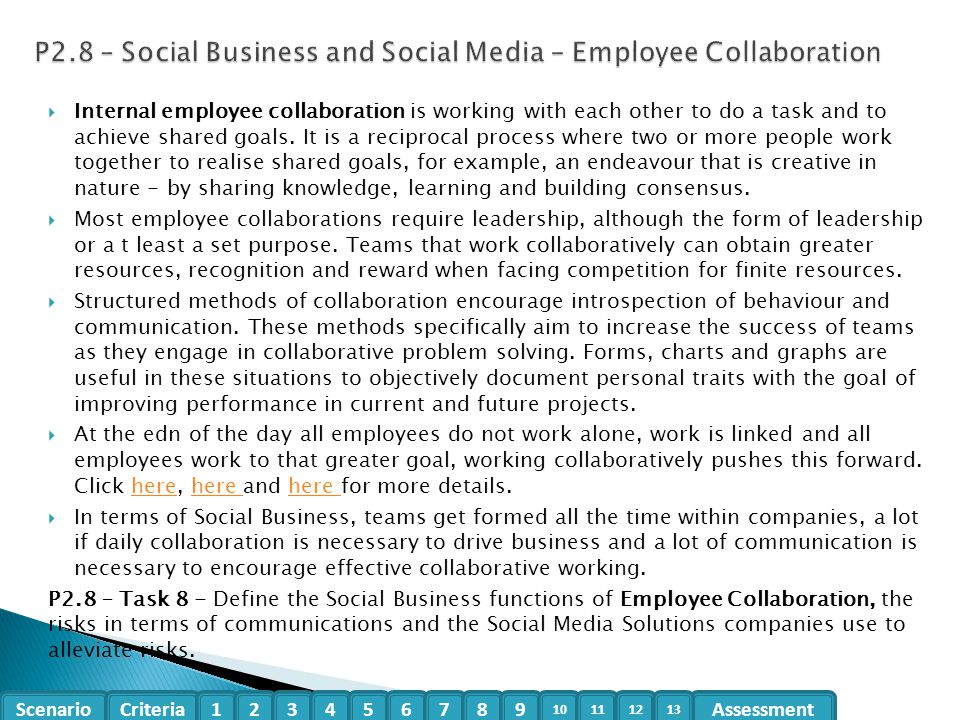 P2.8 – Social Business and Social Media – Employee Collaboration