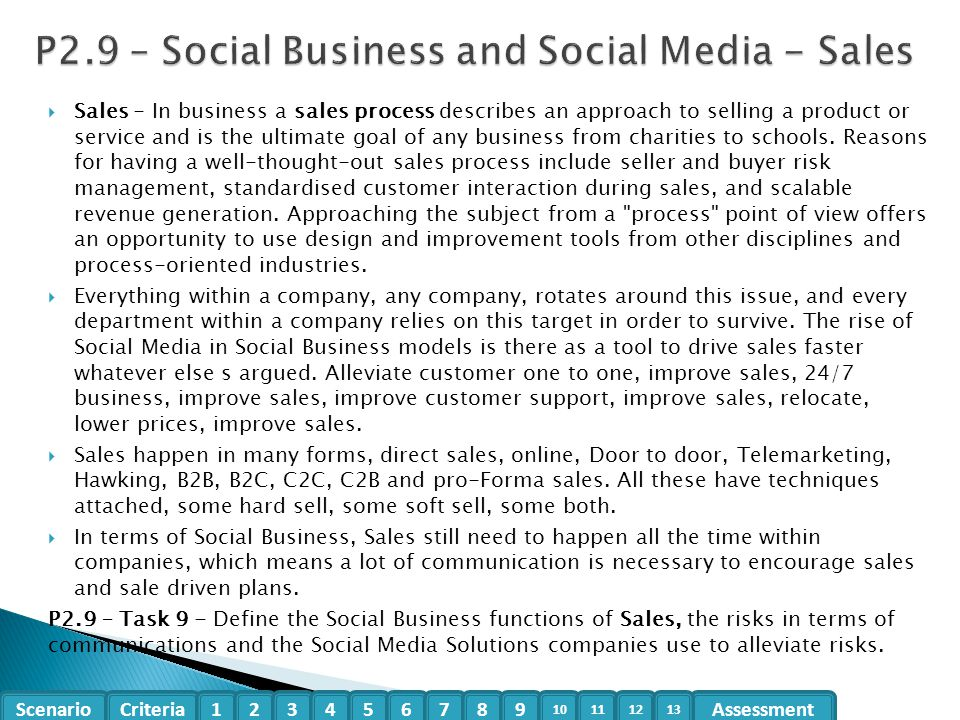 P2.9 – Social Business and Social Media - Sales