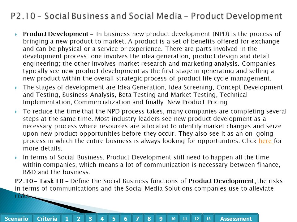 P2.10 – Social Business and Social Media – Product Development