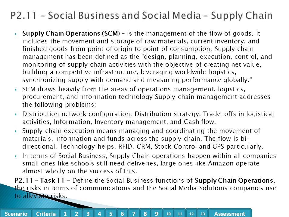 P2.11 – Social Business and Social Media – Supply Chain