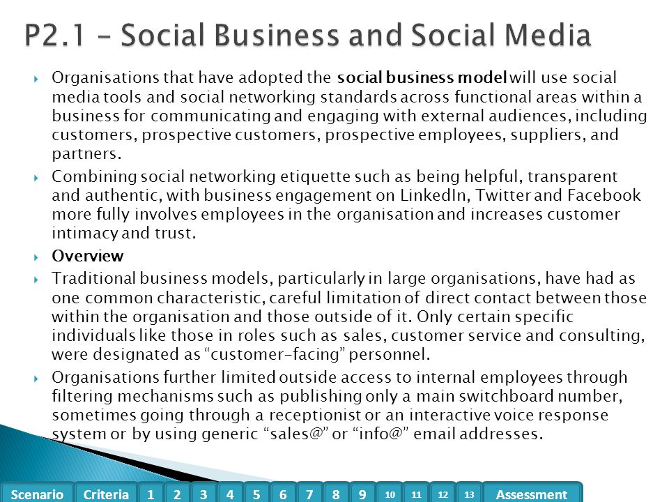 P2.1 – Social Business and Social Media