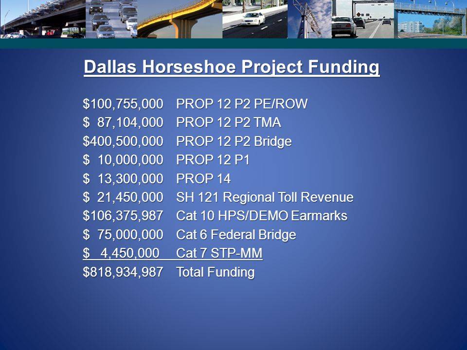 Dallas Horseshoe Project Funding