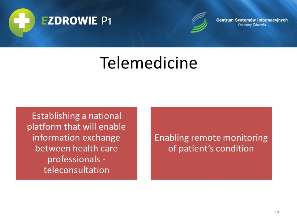 Enabling remote monitoring of patient's condition