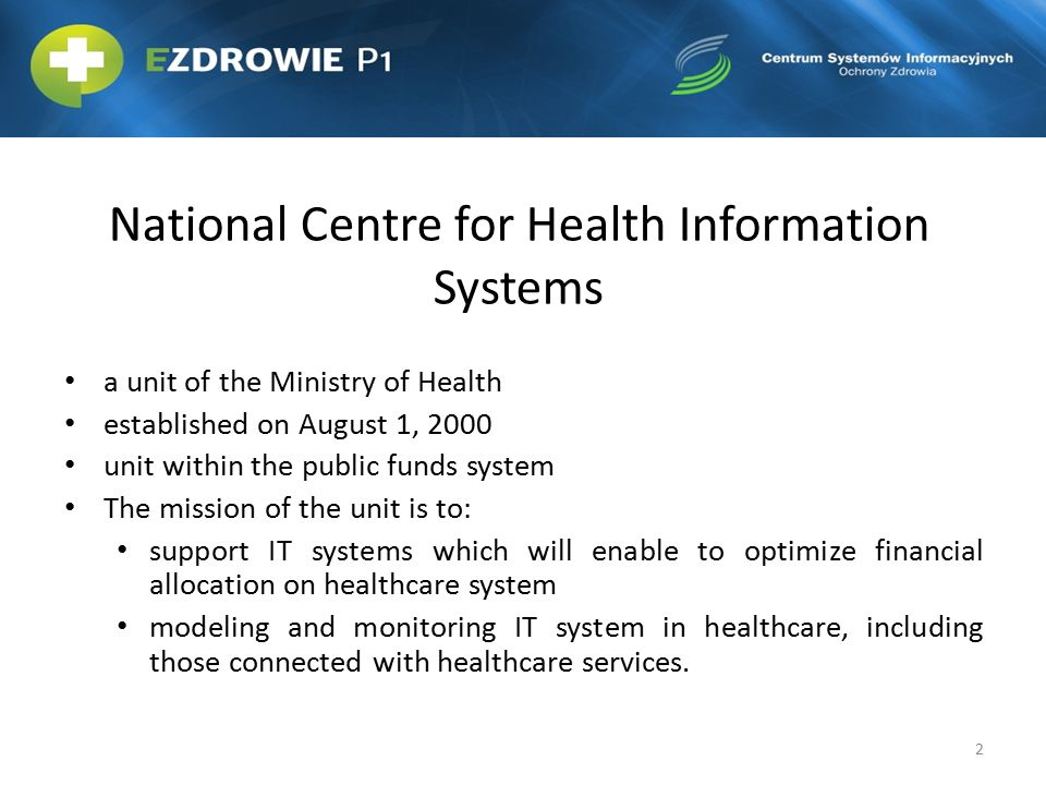 National Centre for Health Information Systems