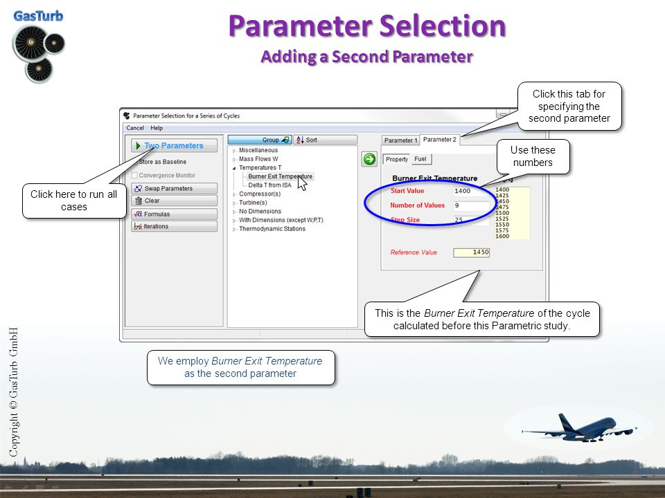 Parameter Selection Adding a Second Parameter