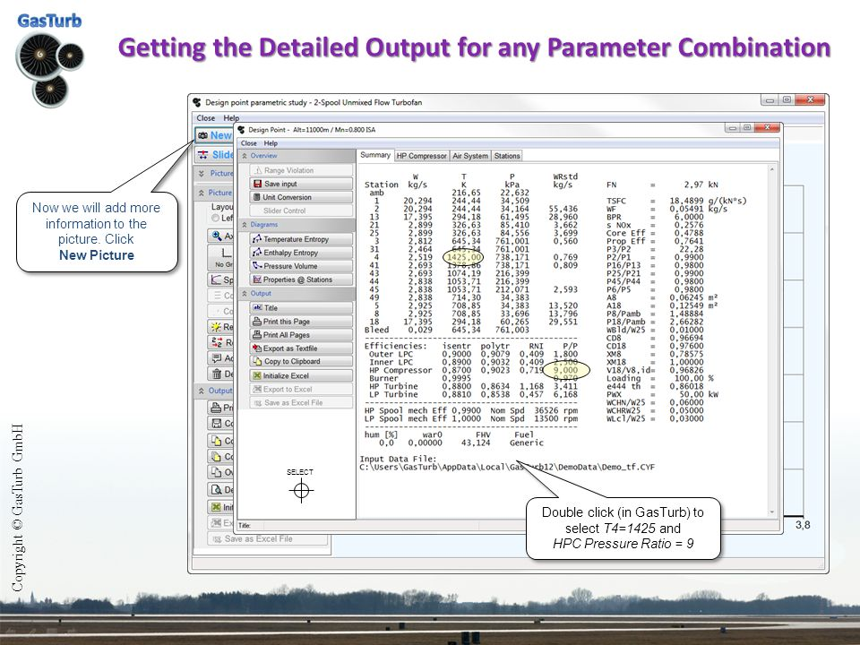 Getting the Detailed Output for any Parameter Combination