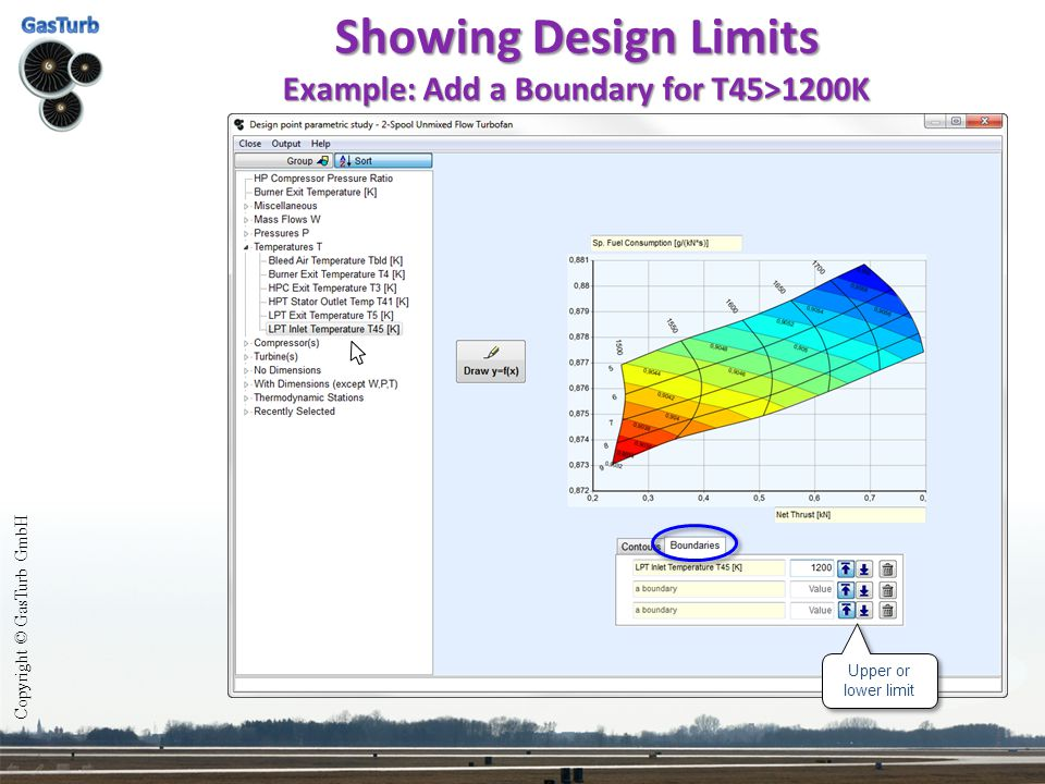 Showing Design Limits Example: Add a Boundary for T45>1200K