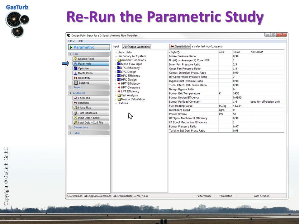Re-Run the Parametric Study