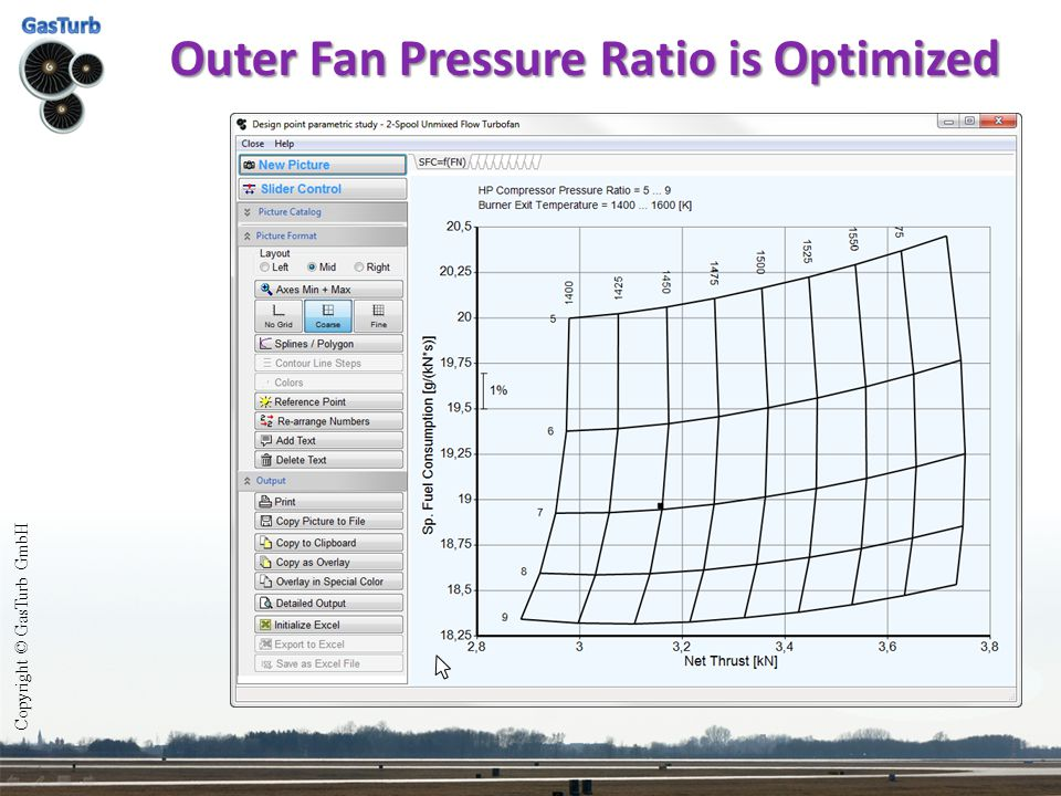 Outer Fan Pressure Ratio is Optimized