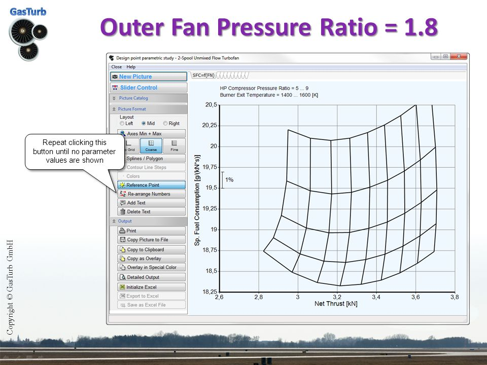Outer Fan Pressure Ratio = 1.8