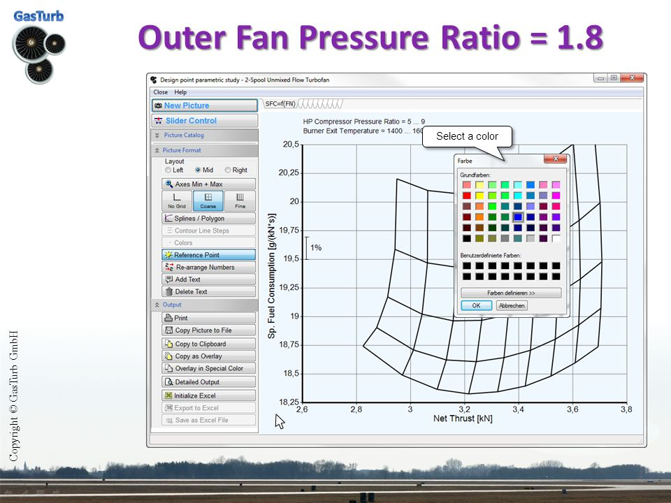 Outer Fan Pressure Ratio = 1.8