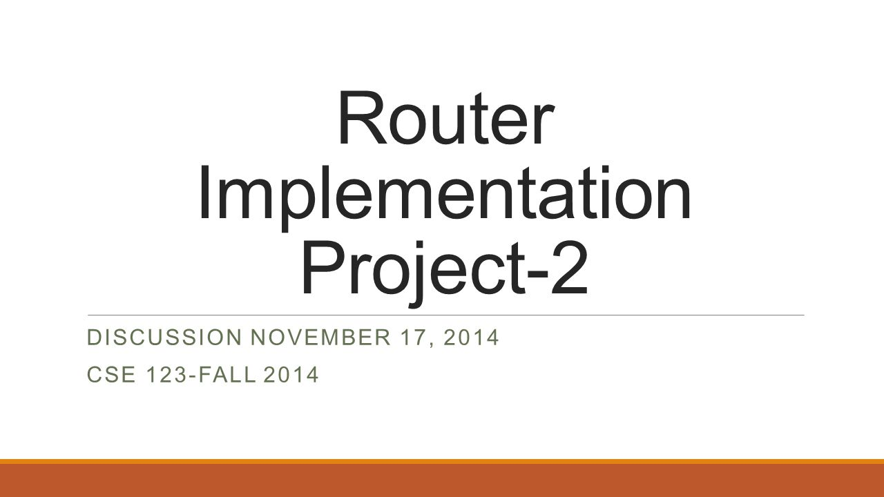 Router Implementation Project-2