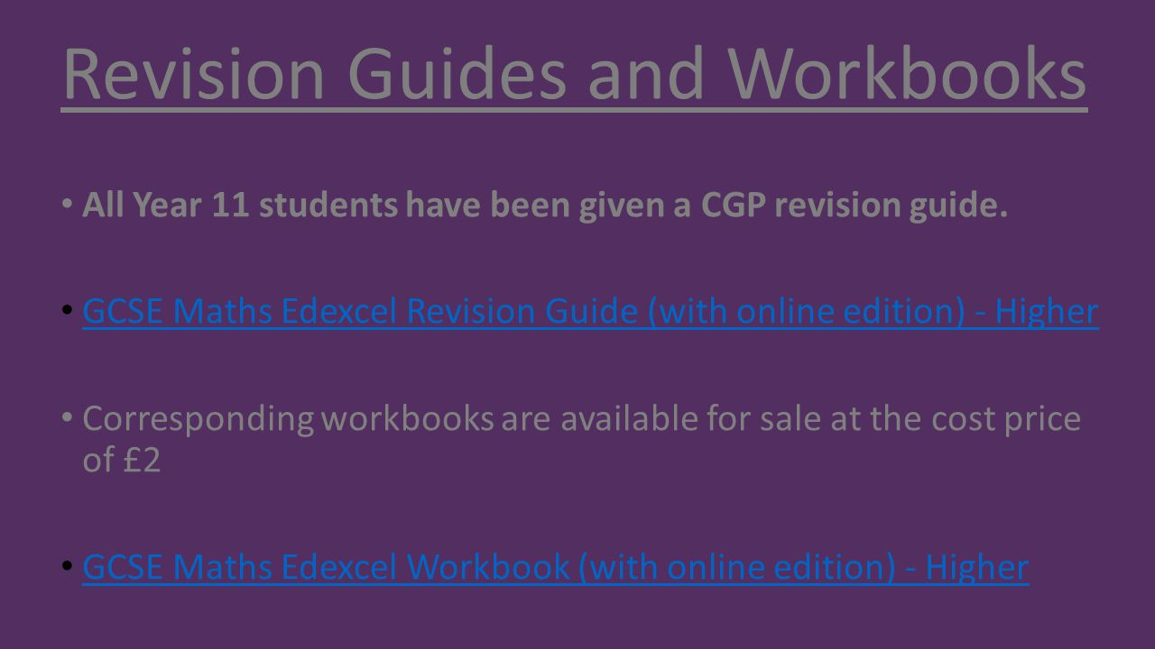 Revision Guides and Workbooks