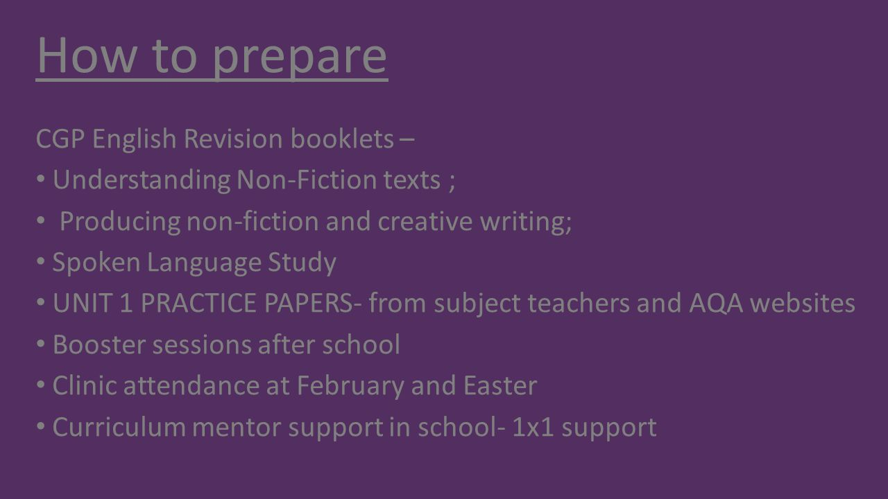 How to prepare CGP English Revision booklets –