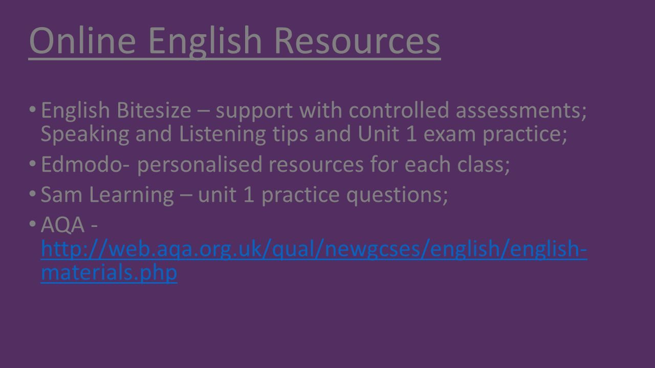 Online English Resources