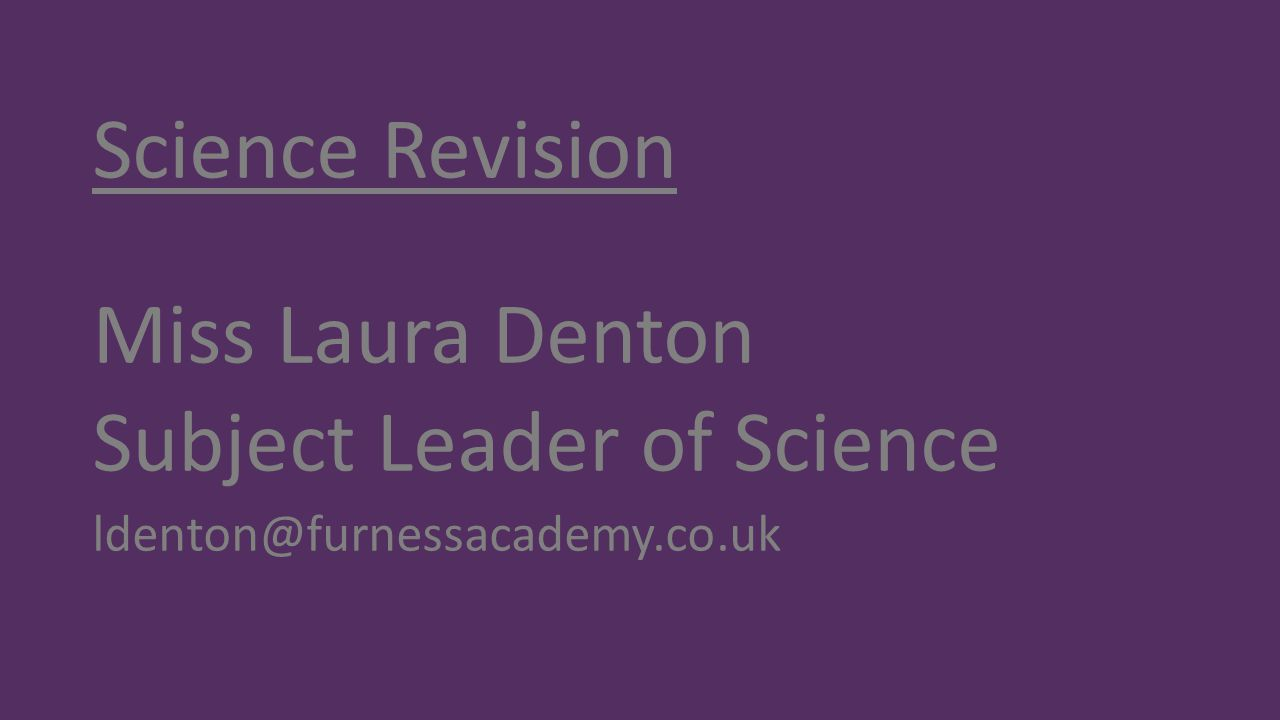 Subject Leader of Science
