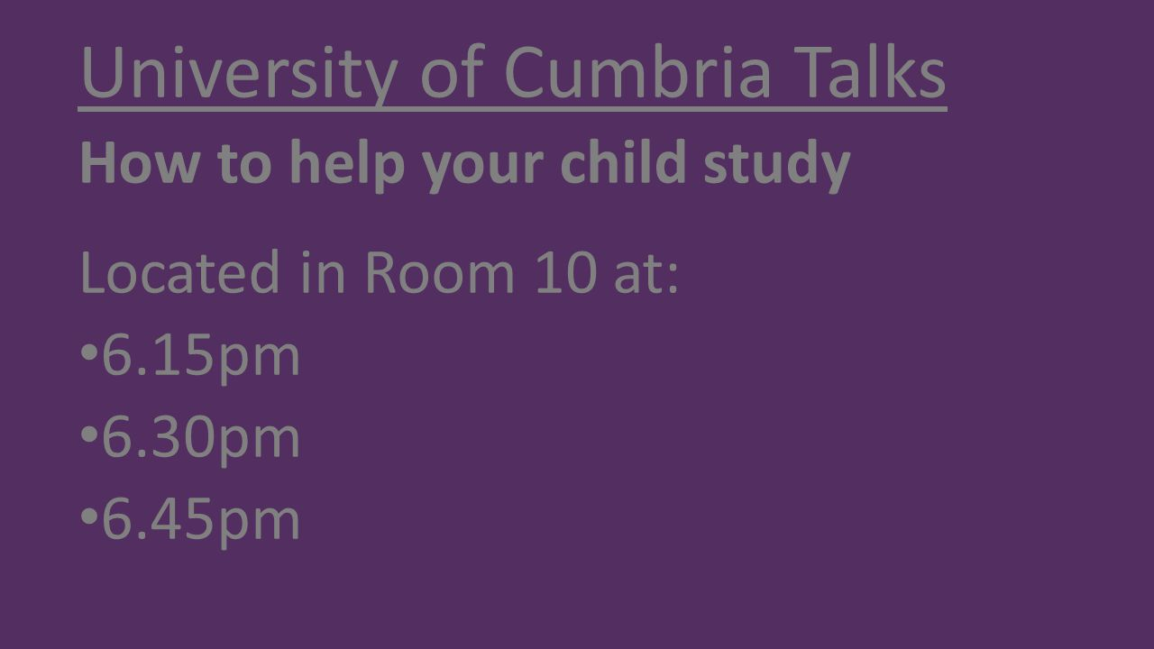University of Cumbria Talks