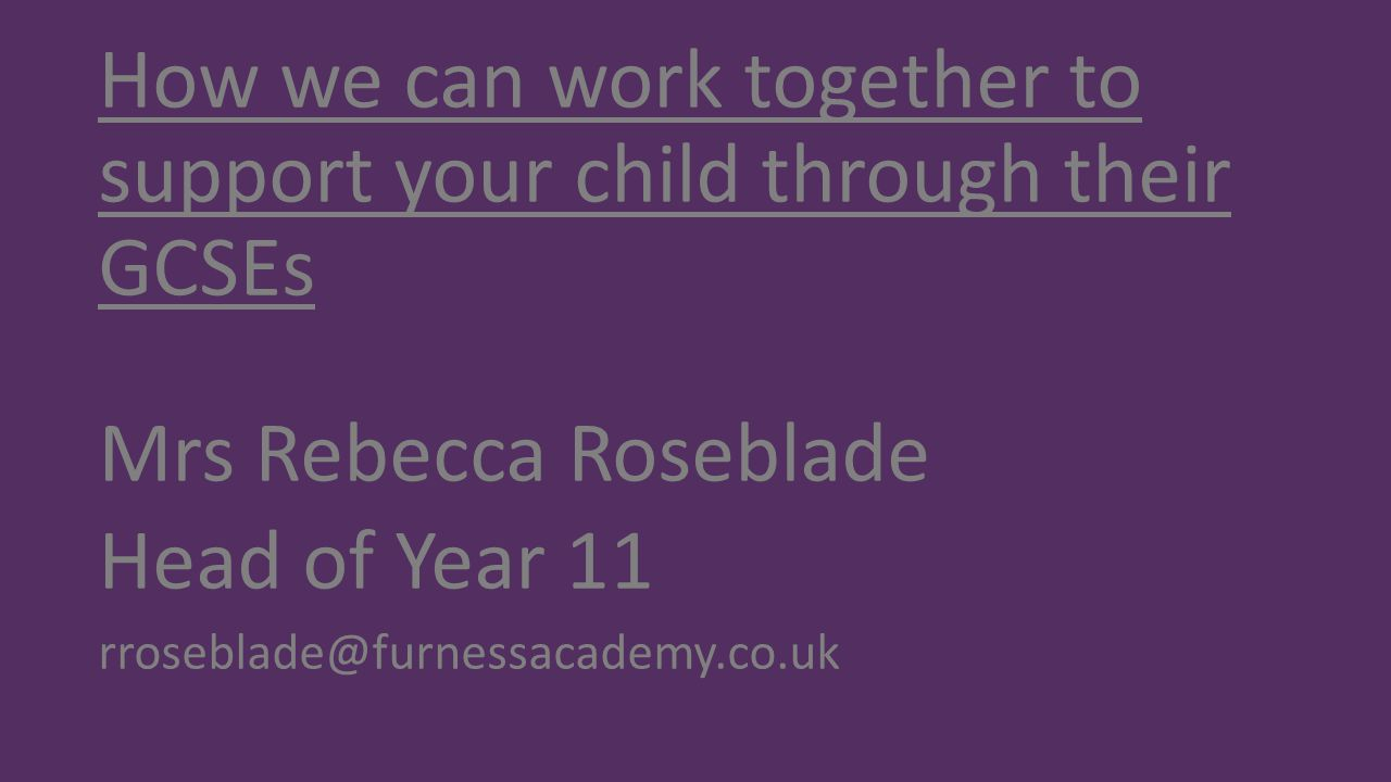 How we can work together to support your child through their GCSEs