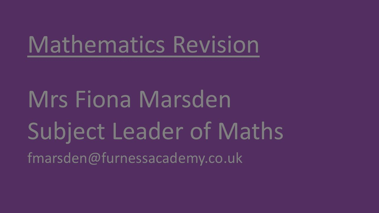Subject Leader of Maths
