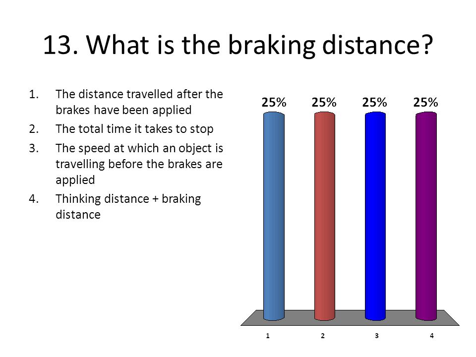 13. What is the braking distance