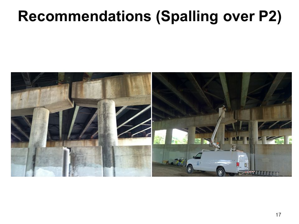 Recommendations (Spalling over P2)