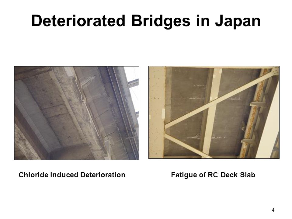 Deteriorated Bridges in Japan