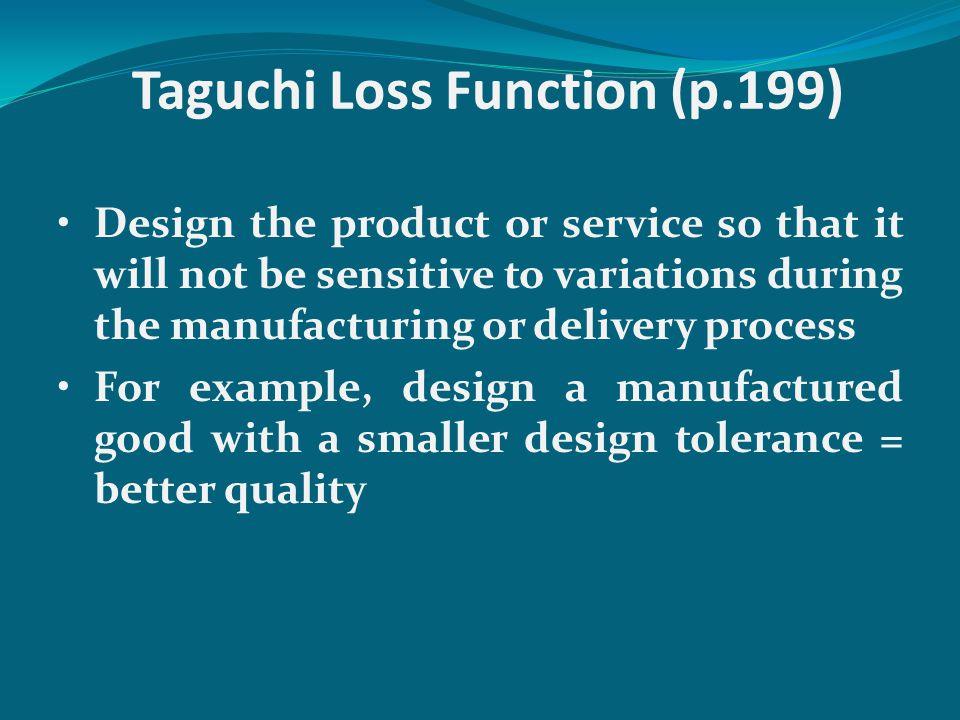 Taguchi Loss Function (p.199)
