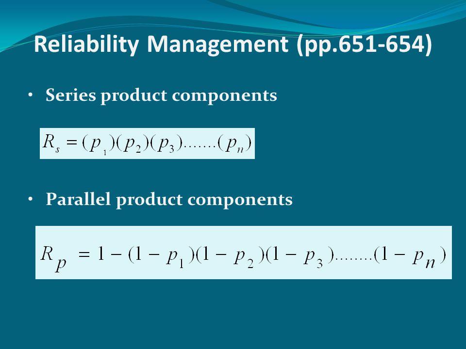 Reliability Management (pp.651-654)