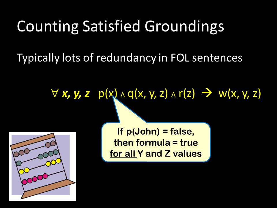 Counting Satisfied Groundings