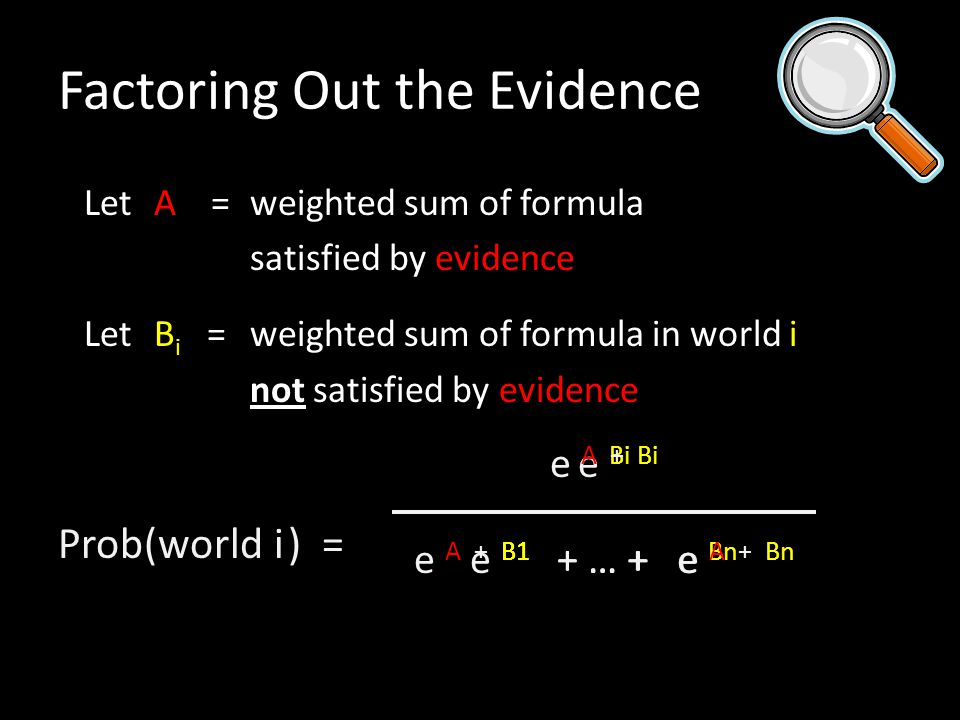 Factoring Out the Evidence
