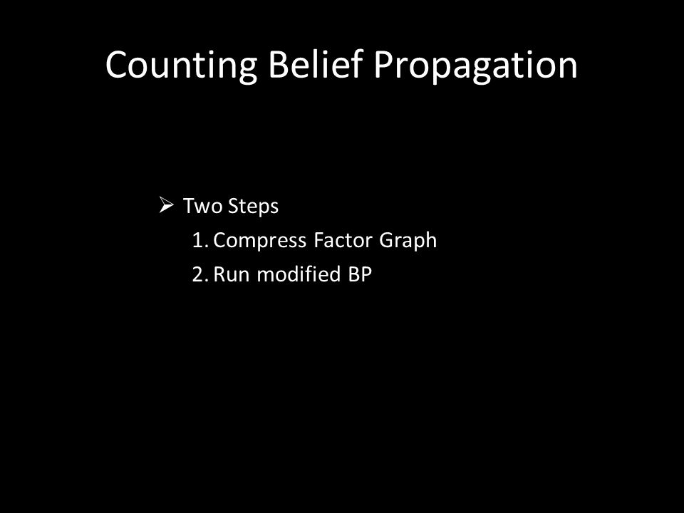 Counting Belief Propagation