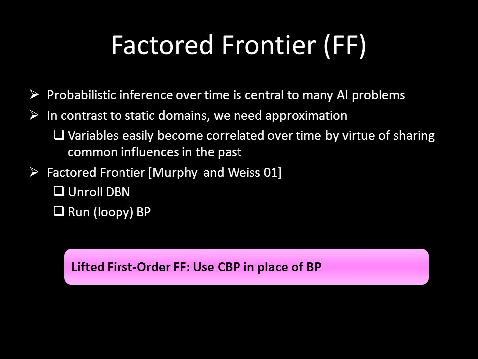 Factored Frontier (FF)