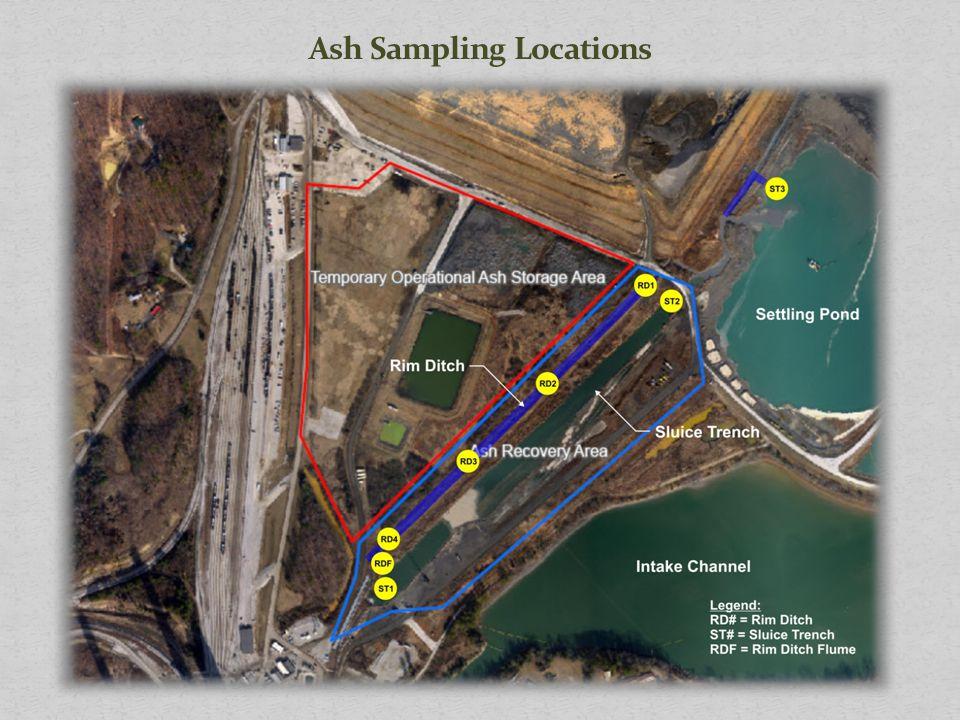 Ash Sampling Locations