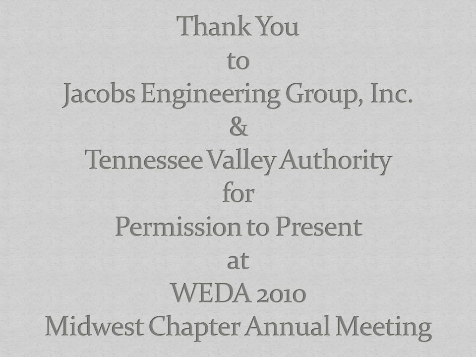 Thank You to Jacobs Engineering Group, Inc