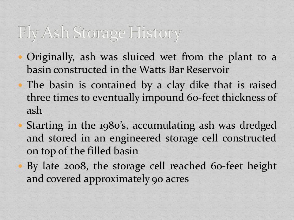 Fly Ash Storage History